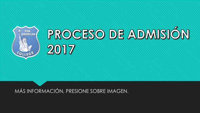PROCESO ADMISIÓN 2017