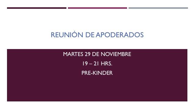 REUNION DE APODERADOS