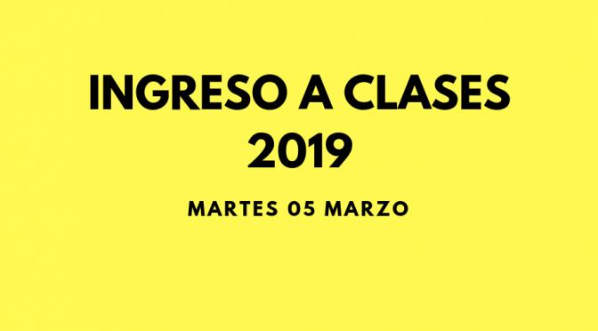 REGRESO A CLASES: MARTES 5 DE MARZO