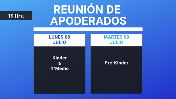 REUNIÓN DE APODERADOS – JULIO