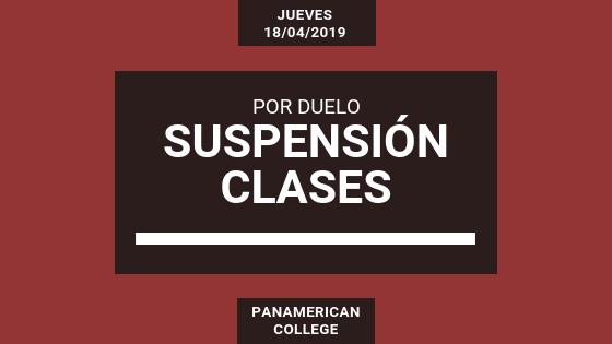 SUSPENSIÓN CLASES JUEVES 18